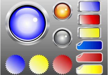 Shiny Web Buttons - vector gratuit #139761