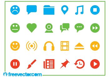 Web Icons Set - vector gratuit #139791