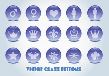 Vector Glass Buttons - Kostenloses vector #139821
