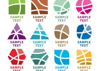 Abstract Logo Vector Elements - Free vector #139841
