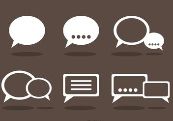 Chat Icons Vector - vector gratuit #139931