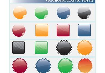 Glossy Web Icons - Kostenloses vector #139951