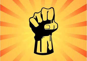 Fist Power Graphic - Free vector #139961