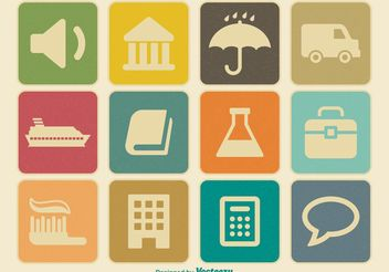 Miscellaneous Vintage Icon Set - Free vector #139971