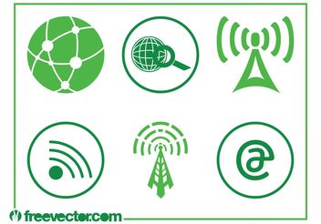 Technology And Internet Icons - vector gratuit #139981