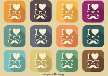 Hipster Style Icons - vector #140021 gratis