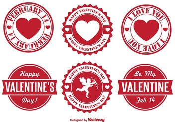 Valentine's Day Badges - Free vector #140051