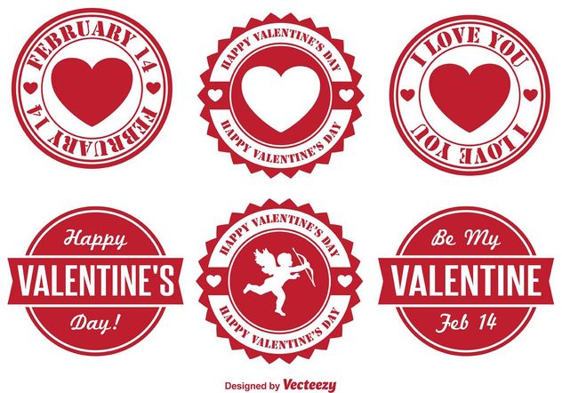 Valentine's Day Badges - vector gratuit #140051