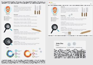Vector Curriculum Vitae Chef - Free vector #140061