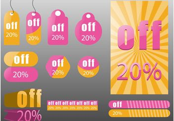 Discount Price Labels - vector gratuit #140101