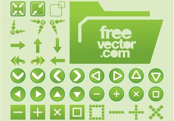 Vector Interface Buttons - Kostenloses vector #140111