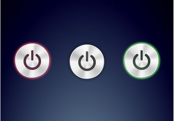 Shiny Power Buttons - vector gratuit #140161