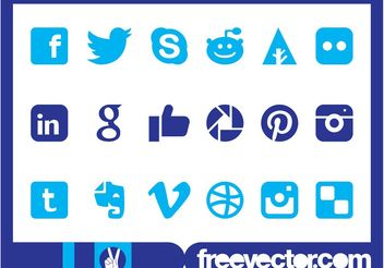 Social Media Icons Graphics - vector gratuit #140291