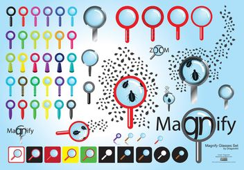 Magnifying Glass Graphics - vector gratuit #140351