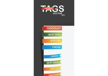 Vector side-wrap tags - vector gratuit #140361