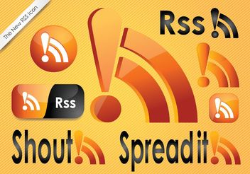 RSS Feed Icons - vector gratuit #140391