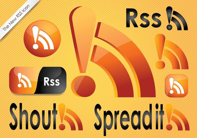 iconos feed RSS - vector #140391 gratis