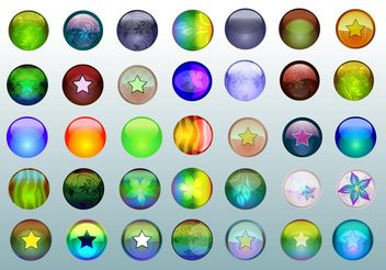 Free Glass Buttons - Free vector #140441
