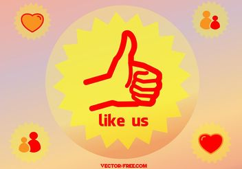 Thumb Up Like - vector gratuit #140481