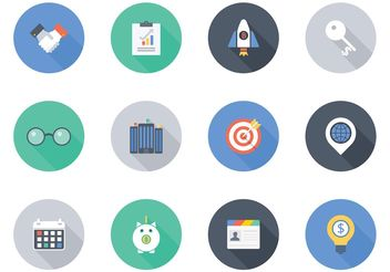 Free Flat Business Vector Icons - vector gratuit #140711