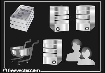 Web And Computers Set - Free vector #140721