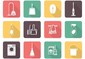 Free Vector Cleaning Icons - Kostenloses vector #140741