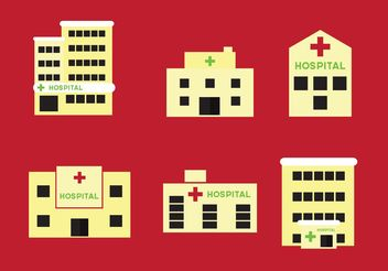 Hospital buildings - vector gratuit #140751