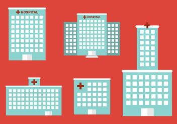 Hospital buildings - vector gratuit #140771
