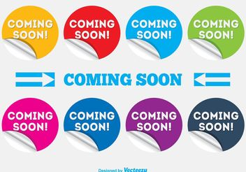 Coming Soon Labels/Stickers - vector #140791 gratis