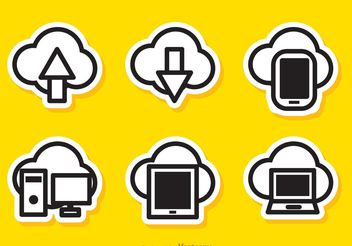 Simple Cloud Computing Vectors - Free vector #140861