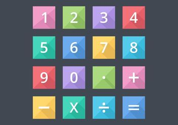 Free Numbers And Mathematical Flat Vector Icons - Free vector #141031