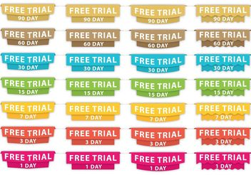 Free Trial Headers - vector gratuit #141061