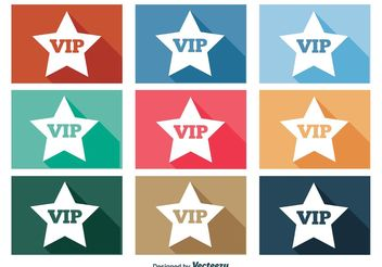VIP Icon Set - Free vector #141101