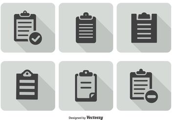 Clipboard Icon Set - vector #141111 gratis