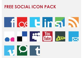 Icon Vector Social Network Set - Free vector #141151