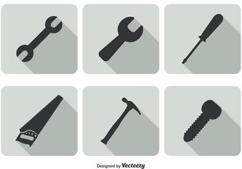 Trendy Tool Icon Set - Free vector #141161