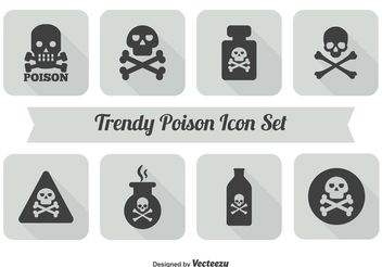 Poison Icon Set - Free vector #141181
