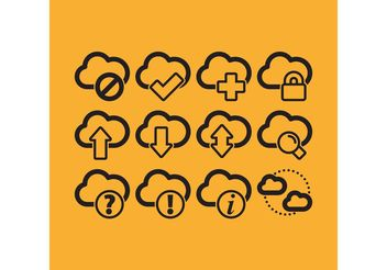 Cloud Computing Vector Icons - vector gratuit #141211