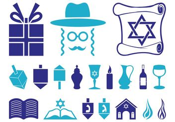Hanukkah Icon Set - бесплатный vector #141301