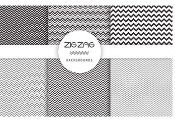 Free Vector Zig Zag Backgrounds - vector #141321 gratis