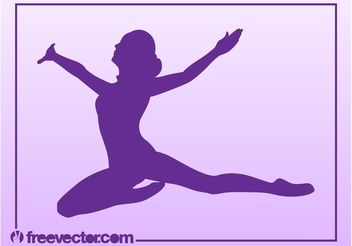 Jumping Woman Vector - Free vector #141381