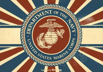 Vintage US Marine Corps Illustration - vector gratuit #141471