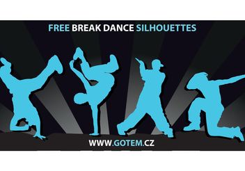 Breakdance Silhouettes - Free vector #141501