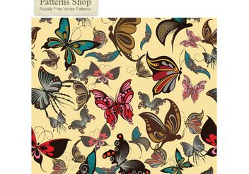 Free vector butterflies seamless pattern - Free vector #141561