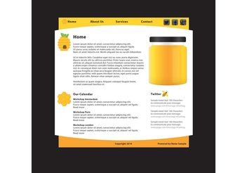 Natural Product Website Template - vector gratuit #141571