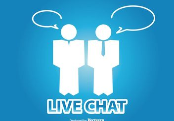 Live Chat Illustration - vector #141631 gratis