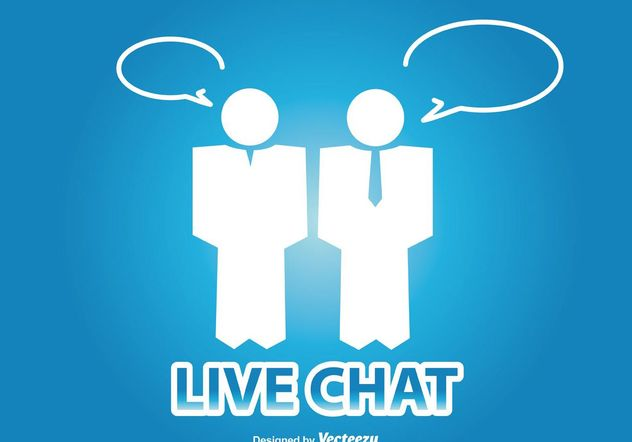 Live-Chat-Illustration - Kostenloses vector #141631