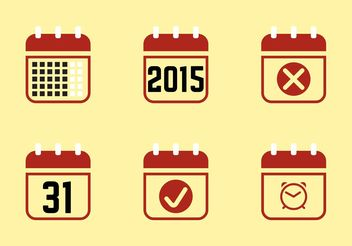 Calendario 2015 Icons - vector #141711 gratis