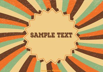 Grunge Sunburst Background - Free vector #141721