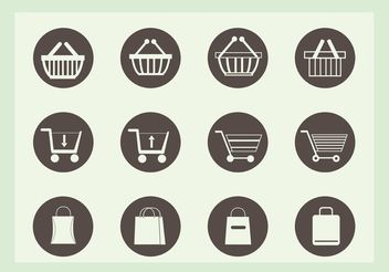 Free Shopping Vector Icons - Kostenloses vector #141881